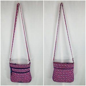 Vera Bradley bag cross body pink/blue diamonds